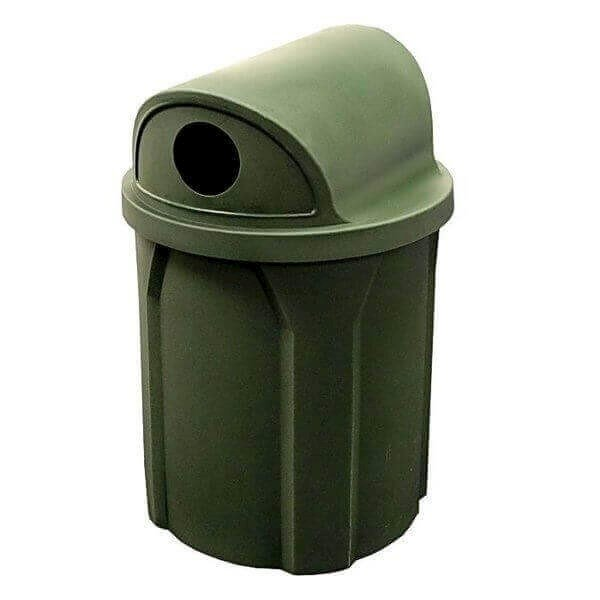 42 Gallon Plastic Receptacle with 2 Way Recycled Lid & Liner