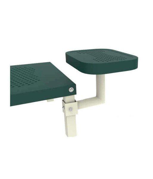 Dog Park Square Bone Table Arm and Pod Accessory - Powder Coated