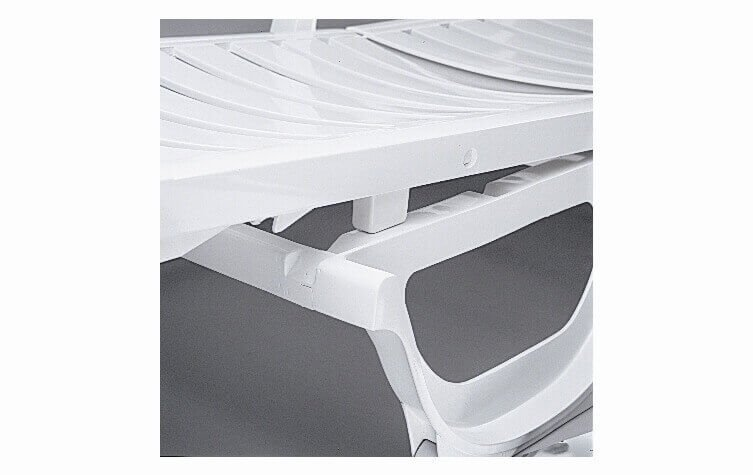 Bahia Plastic Resin Commercial Grade Pool Chaise Lounge