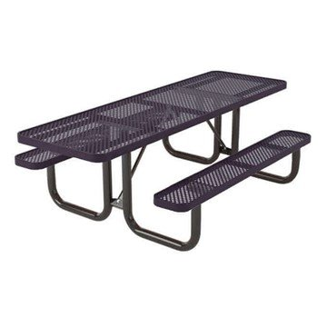 Picture of Regal Style ADA Compliant Polyethylene Coated Metal Picnic Table - Dual Access - 8 ft.