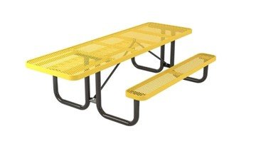 Picture of Ultra Leisure Style Polyethylene Coated Metal ADA Picnic Table - Single Access - 8 ft.