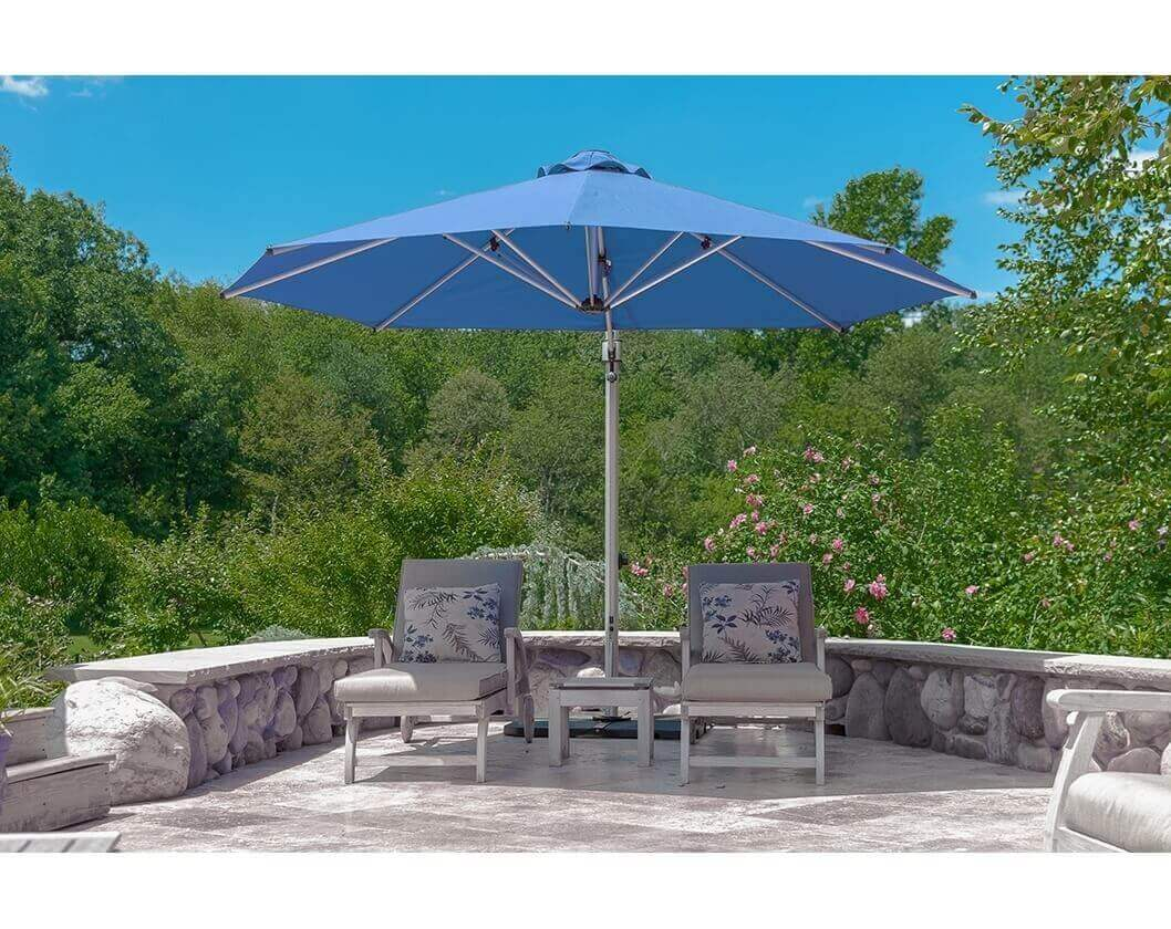 11 Ft Octagonal Aluminum Cantilever Umbrella With Marine
