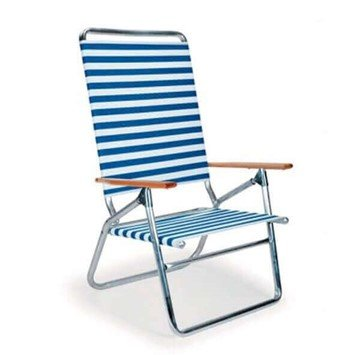 Telescope Light 'N Easy High Boy Beach Chair with Aluminum Frames and Hard Wood Arms - Pack of 4