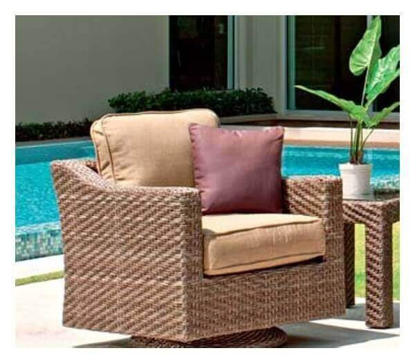 Telescope Lake Shore Outdoor Cushion Swivel Chair With
