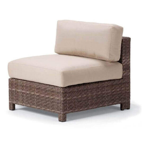 Telescope La Vie Outdoor Cushion Armless Chair With Wicker