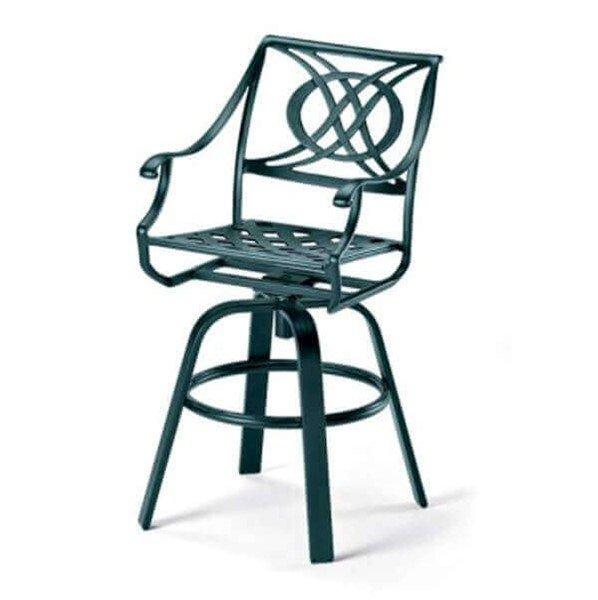 Telescope Cadiz Cast Aluminum Swivel Bar Chair