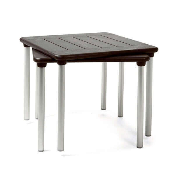 35 square maestrale plastic resin dining table with