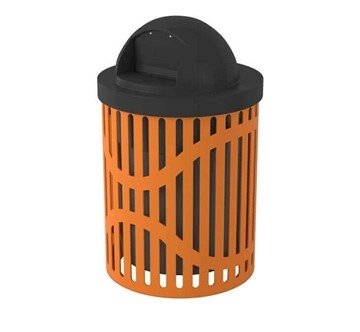 Picture of Classic 22 Gallon Steel Trash Receptacle & Liner w/ Dome Top