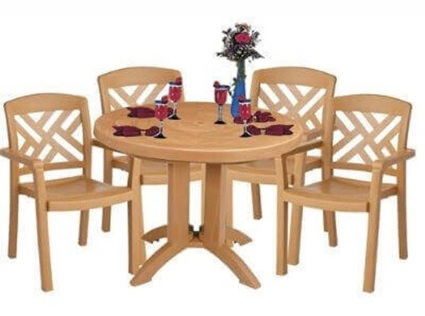 Plastic Resin Table And Chair Package Sanibel Dining Set Furniture Leisure