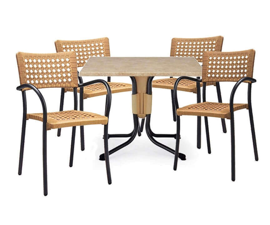 Plastic dining tables round dining table exporter from for Sets de table plastique
