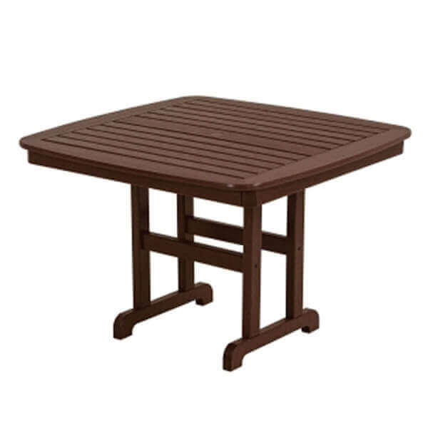 43 square nautical recycled plastic dining table from