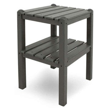 "19"" X 14"" Rectangular Recycled Plastic Two-Shelf Side Table From Polywood"