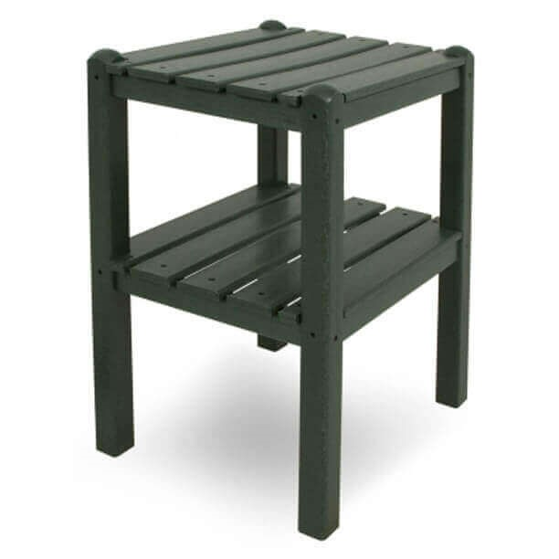 19quot X 14quot Rectangular Recycled Plastic Two Shelf Side  : 000240719 x 14 rectangular recycled plastic two shelf side table from polywood 18 lbs from www.furnitureleisure.com size 612 x 612 jpeg 14kB