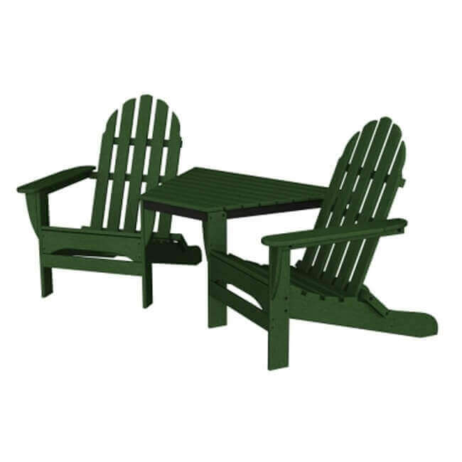 ... Adirondack Recycled Plastic Tete A Tete Chair Set With Table From  Polywood ...