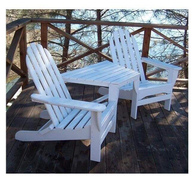 Adirondack Recycled Plastic Tete A Tete Chair Set With