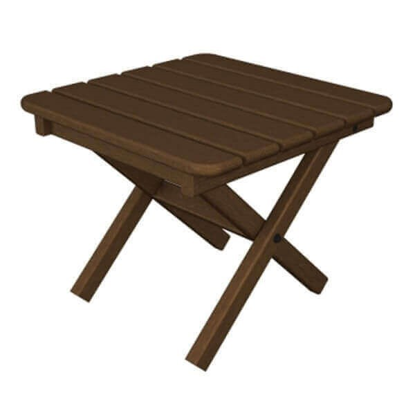 Square Recycled Plastic Side Table From Polywood Lbs - Polywood coffee table