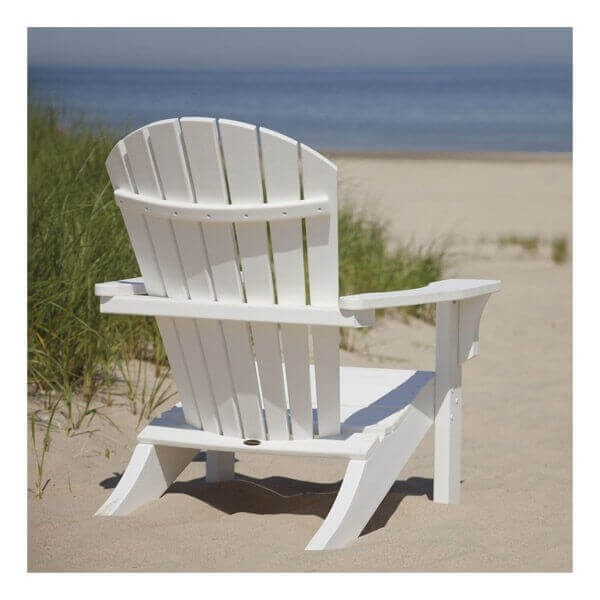 Seashell Adirondack Recycled Plastic Patio Chair From Polywood 55 Lbs Furniture Leisure