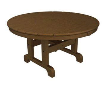 "36"" Round Recycled Plastic Conversation Dining Table From Polywood"