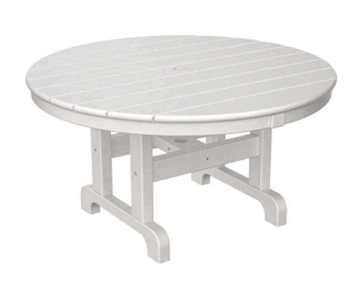 36 round recycled plastic conversation dining table from