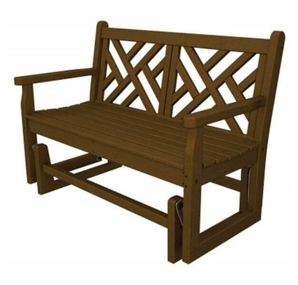 Chippendale Recycled Plastic Porch Glider Bench from Polywood