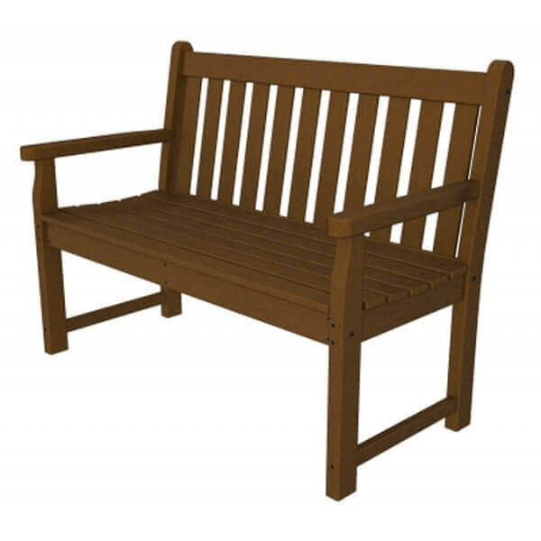Traditional garden recycled plastic bench from polywood for Traditional garden furniture