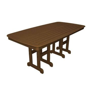 "72"" x 37"" Rectangular Nautical Recycled Plastic Dining Table from Polywood"