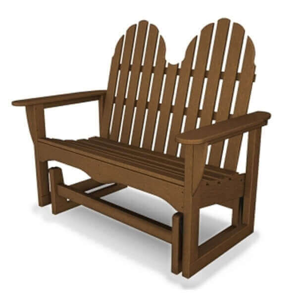 Adirondack Recycled Plastic Porch Glider Bench From