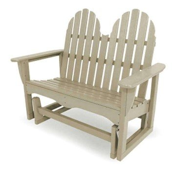 Adirondack Recycled Plastic Porch Glider Bench From Polywood