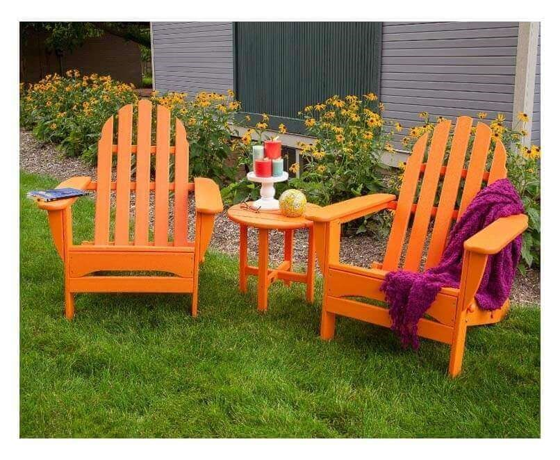 Adirondack Recycled Plastic Patio Chair From Polywood 37 Lbs Furniture Leisure