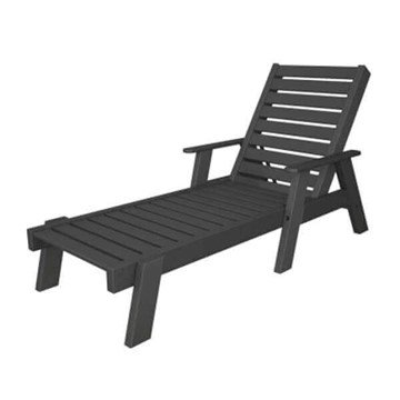 Captain Recycled Plastic Chaise Lounge From Polywood