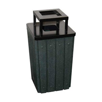32 Gallon Plastic Receptacle with Steel Ash-top & Liner