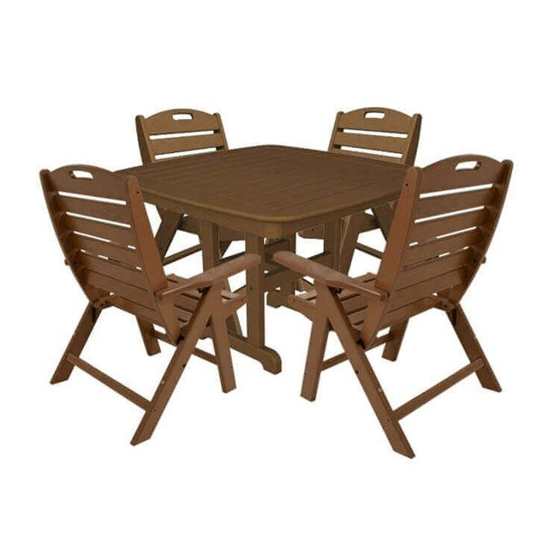 Nautical Recycled Plastic Lowback Dining Chair And Table Set From Polywood 165 Lbs Furniture Leisure