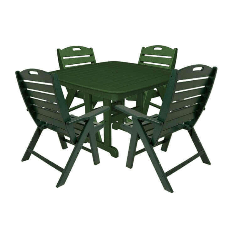 Nautical recycled plastic lowback dining chair and dining - Set table plastique ...