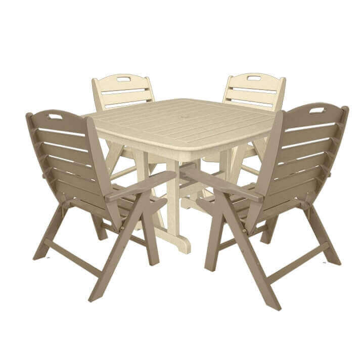 ... Nautical Recycled Plastic Lowback Dining Chair And Dining Table Set  From Polywood ... Part 77