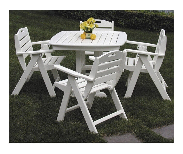 Nautical Recycled Plastic Lowback Dining Chair And Dining