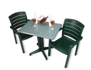 Plastic Resin Table and Chair Package, Acadia Dining Set