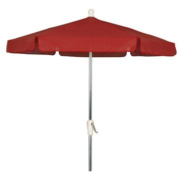7 1/2 Ft. Diameter Garden Umbrella with Aluminum Pole and Crank Lift, Six Rib Fiberglass