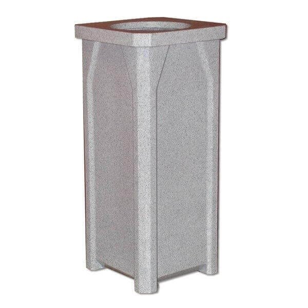 22 Gallon Plastic Receptacle with Flat Lid, 18 lbs