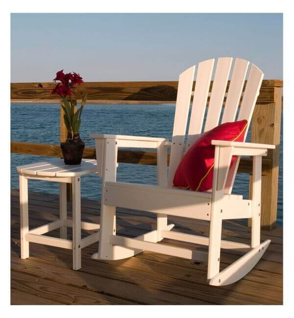 Excellent South Beach Recycled Plastic Rocker Chair From Polywood 34 Lbs Furniture Leisure Ocoug Best Dining Table And Chair Ideas Images Ocougorg