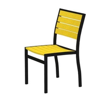 Euro Recycled Plastic Armless Dining Chair From Polywood