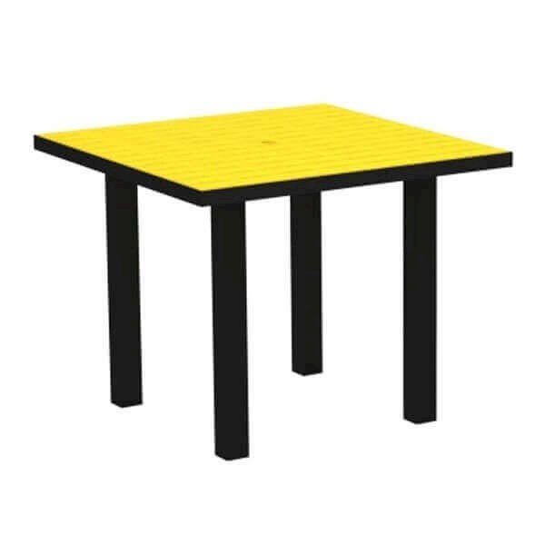 "36"" Square Euro Recycled Plastic Dining Table from Polywood"