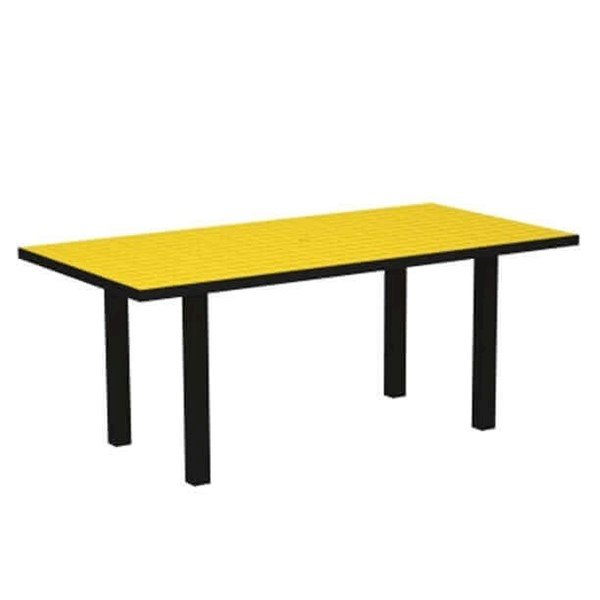 """72"""" X 36"""" Rectangle Euro Recycled Plastic Dining Table From Polywood"""