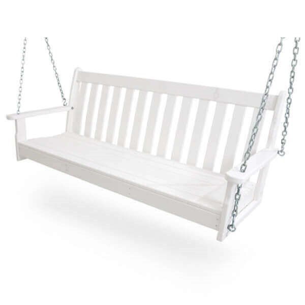 Vineyard Recycled Plastic Porch Bench Swing From Polywood With Chain Kit