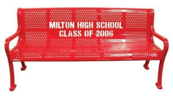 Personalized Perforated Style Thermoplastic Memorial Bench