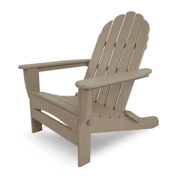 Classic Adirondack Oversized Recycled Plastic Patio Chair From Polywood 42 Lbs Furniture