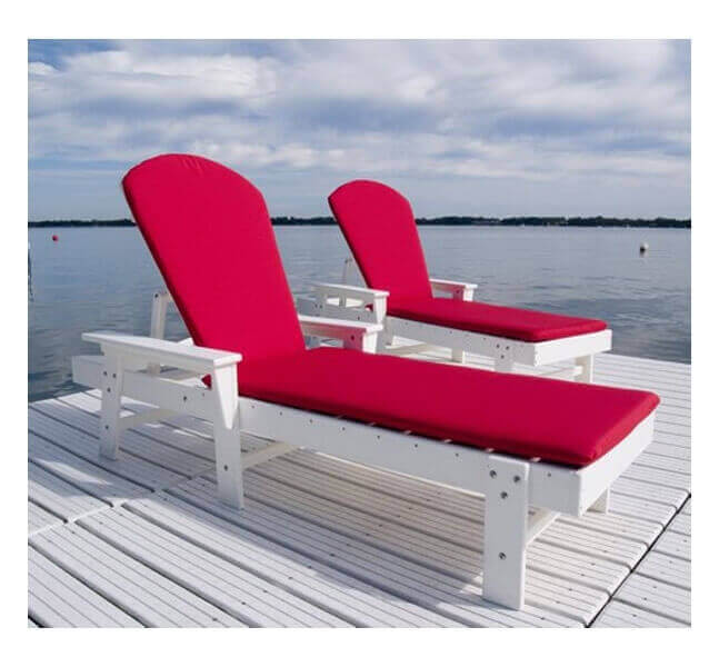 South Beach Chaise Lounge Full Cushion From Polywood