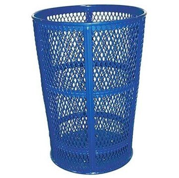 Picture of 45 Gallon Expanded Metal Style Thermoplastic Coated Trash Receptacle