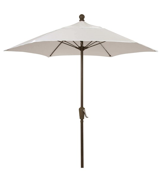 7.5 Ft. Hexagonal Commercial Fiberglass Ribbed Market Umbrella With Two Piece Aluminum Pole And Solution Dyed Olefin Fabric - 15 Lbs.