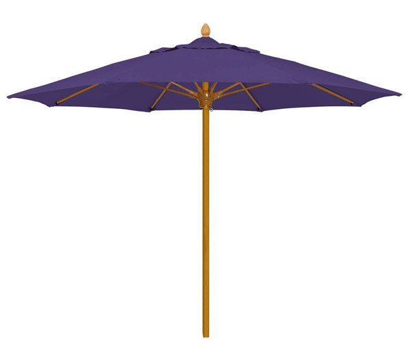 Commercial Umbrellas Bridgewater Style Market Umbrella. 8 Foot Octagon with Heavy Duty One Piece Simulated Wood Pole. Marine Grade Fabric.