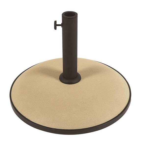 "Concrete Umbrella Base, 14"" High Stem and 19"" Diameter Base, 55 lbs."